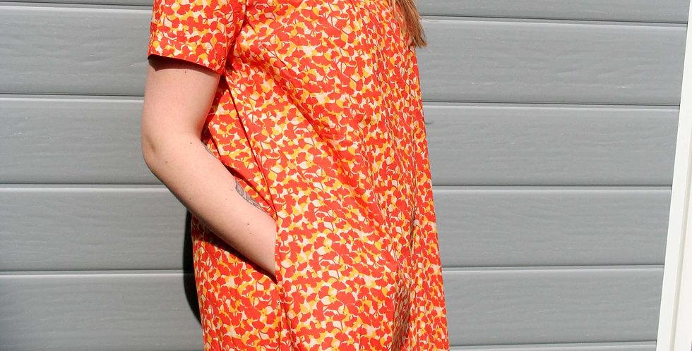 La Robe Suzette imprimé Ginko orange