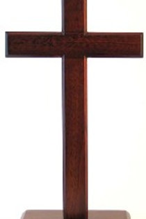 Standing Cross Dark - 30cm