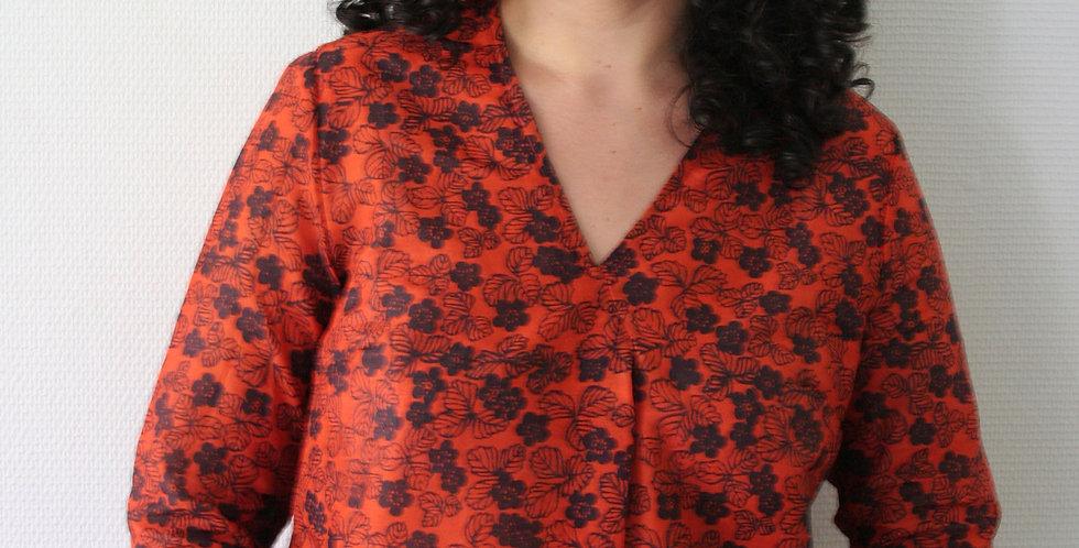 Tunique Nour imprimé Cerisier