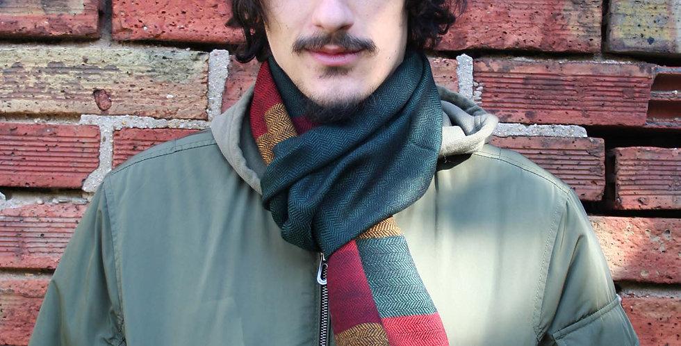 Echarpe en laine de l'Himalaya couleur vert sapin