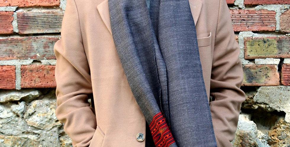 Echarpe en laine de l'Himalaya couleur marron glacé