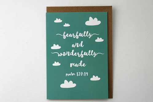 Greeting Card - Wonderfully Made