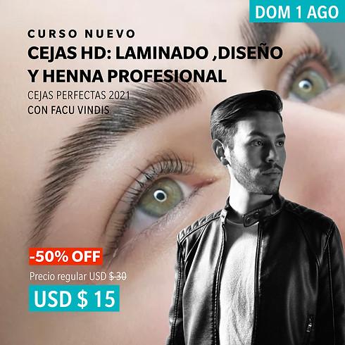 Cejas HD: Laminado, diseño y henna de cejas Profesional