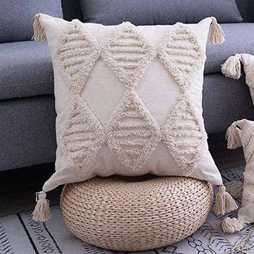 Morocco Vibes Tasseled Pillow Cover