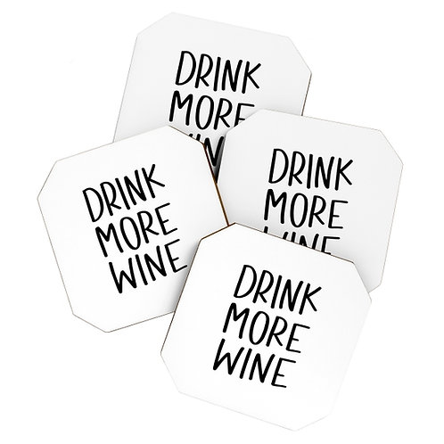 Drink More Wine Coasters
