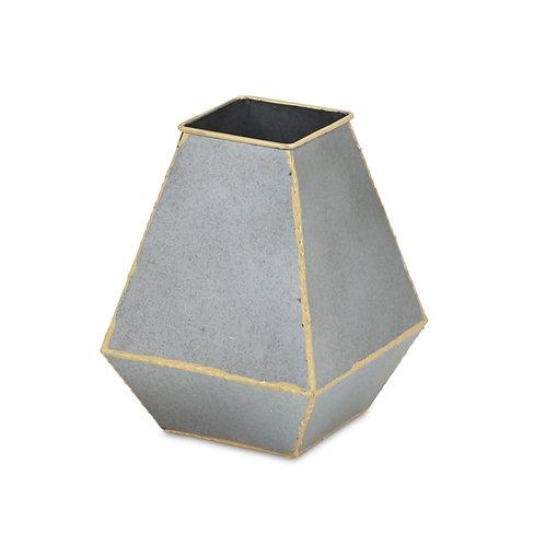 Modern Chic Galvanized Metal Vase
