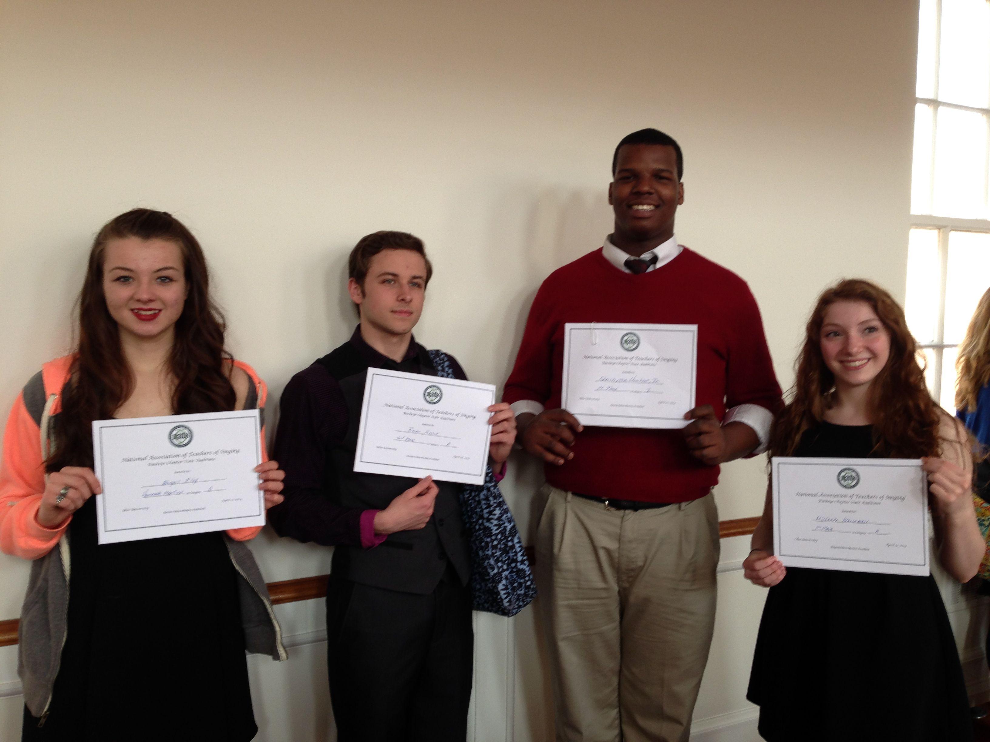 Nats 2014 Certificates
