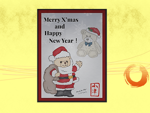 Happy Holidays from Junior Santa and Sir. Spongy Santa