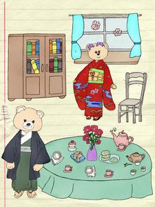 Tea time ( Kimono Bears )