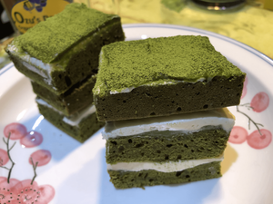 Ozu's Organic Matcha chocolate cottage cake