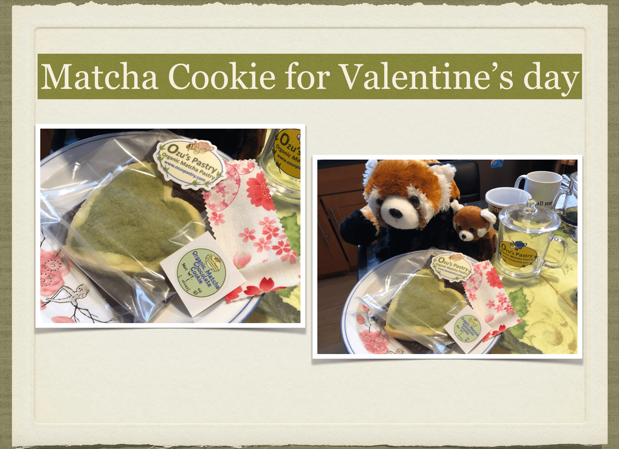 Matcha cokie for Valentines day 2