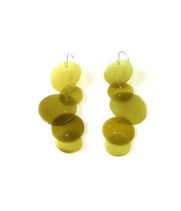 Jade Green & Gold #1 金缕玉衣耳环1
