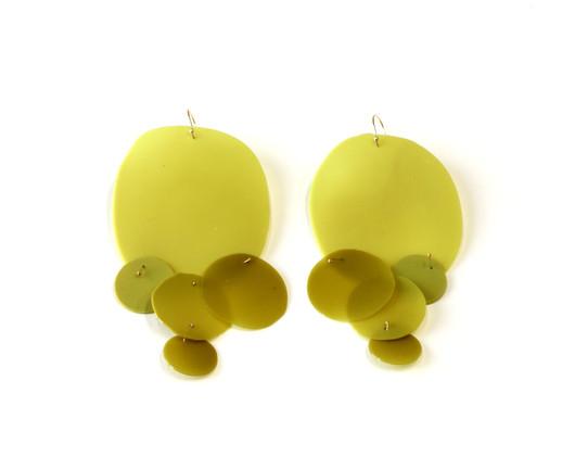 Jade Green & Gold #2 金缕玉衣耳环2