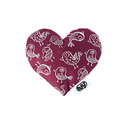 chirp chirp (organic cotton) Scented Hearts - refillable