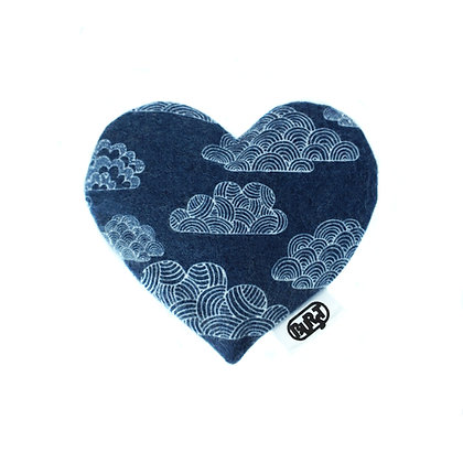 night clouds (organic cotton flannel) Scented Hearts - refillable