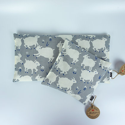 counting sheep (organic cotton) Warming Pillows - cherry stones or spelt