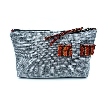 stone age - Cosmetic Bag/ Make Up Bag/ Pencil Case (recycled/ organic fabrics)