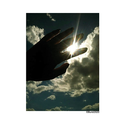 hands touch the sky - Picture Card/ Postcard - printed on uncoated natural paper