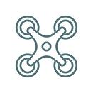 Ein Icon mit einer Drohne.