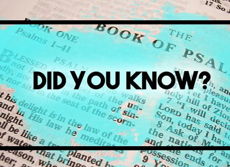 Did You Know: The Books of Psalms