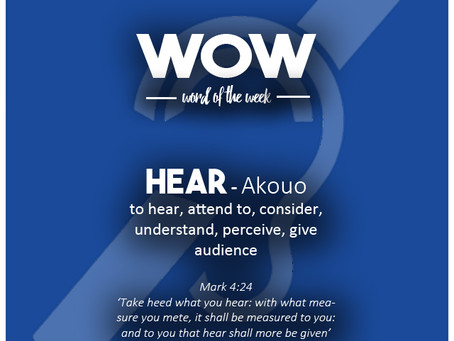 Word of the Week - Hear
