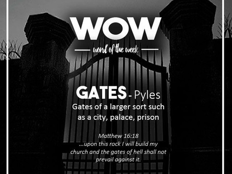 Word of the Week - Gates