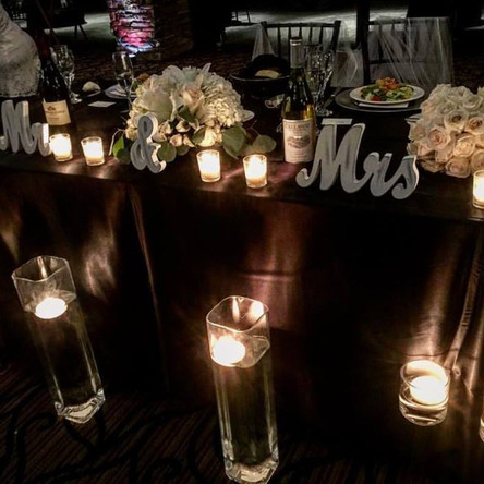 Candles For Wedding Decorations in Orange County Call 949-374-7258