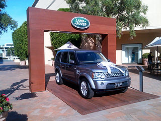 Custom fabrication we custom made for Land Rover at their event, they loved our detailed work.