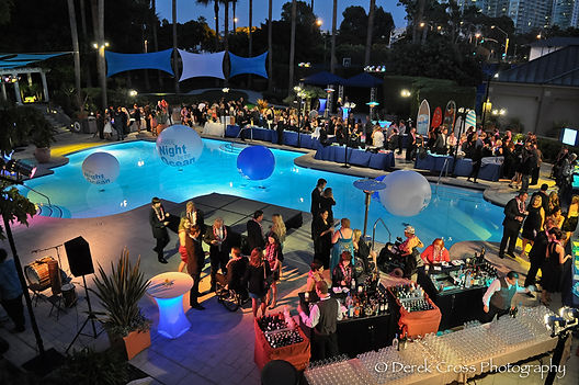 Poolside atmosphere for your event. Call us: 949.374.7258