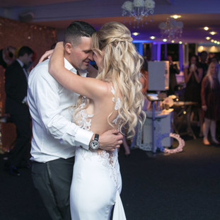 Dancing At Wedding By The Bride and Groom At Their Wedding By OCLAEvents 949-374-7258