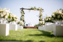 Wedding Isle with Flowers and Beautiful Decorations LA OC 949-374-7258