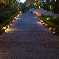 Lovely Wedding Walkway Produced by OCLA Events in Orange County Call 949-374-7258