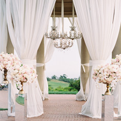 White Drapping Beautiful Wedding Decorations in Los Angeles County Call 949-374-7258