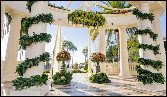 Wedding At Saint Regis In Dana Point OCLAEvents Provided Decor Draping And Support Columns Pic
