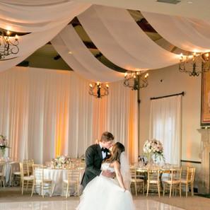 Elegant Wedding Bride and Groom Dancing By OCLAEvents 949-374-7258