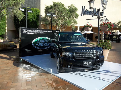 View this amazing custom fabrication we made for Land Rover, they loved our work and the event we put on.