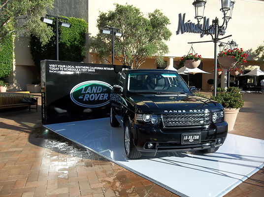 Land Rover branding event. Call us: 949.374.7258