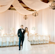 Beautiful Wedding Setting and Reception Event Production by OCLAEvents 949-374-7258