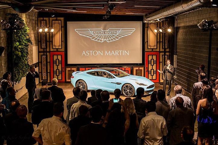 Aston Martin car revealed event.