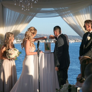 Oceanside Ceremony By Bride and Groom Produced By OCLAEvents 949-374-7258