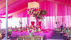 Our draping services with a pink themed event. Call us at: 949.374.7258