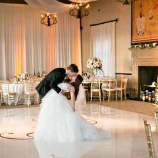 Bride and Groom Dancing Elegant Wedding By OCLAEvents 949-374-7258