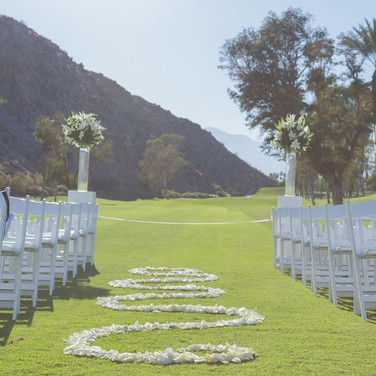 Beautiful Wedding Walkway To Alter in Los Angeles County Call 949-374-7258