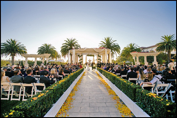 Wedding At Saint Regis In Dana Point OCLAEvents Provided Decor Draping And Support Back View