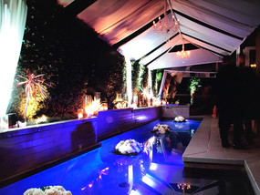 Pool Decor for Bel Air Fundraising Event