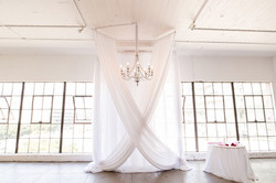White Decorations Hanging Swaging at Event Call Us 949-374-7258