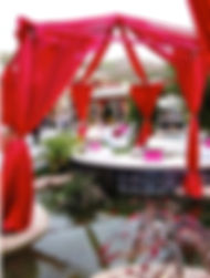 Swagging and lounge furniture wedding decorations. Call us: 949.374.7258