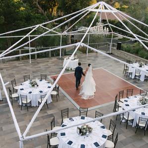 Setting Up Outdoor Dance Floor Of Elegant Wedding By OCLAEvents 949-374-7258