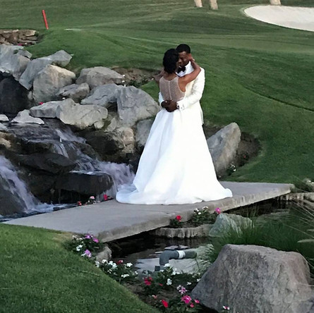 Wedding Scene On River Walkway in Orange County Call 949-374-7258