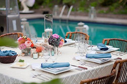 Poolside event decor. Call us: 949.374.7258